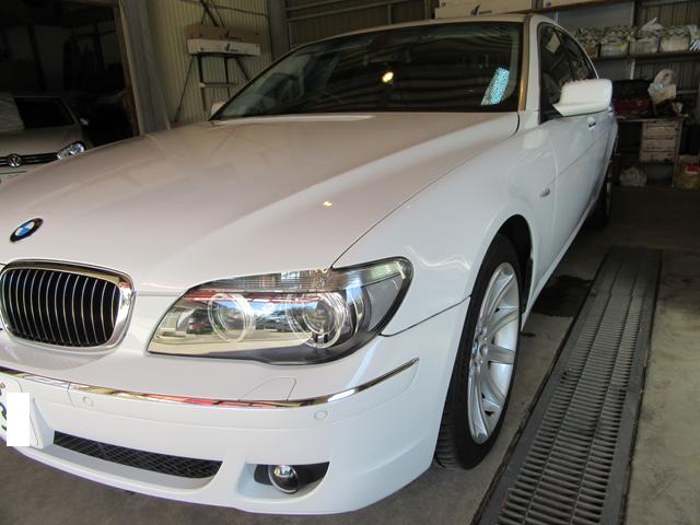 2007年式BMW750Li ポリマーコーティング加工